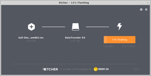 Etcher flash